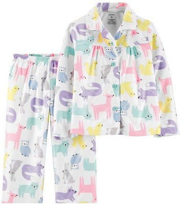 Conjunto 2 peças - pijama zoo - Carter's