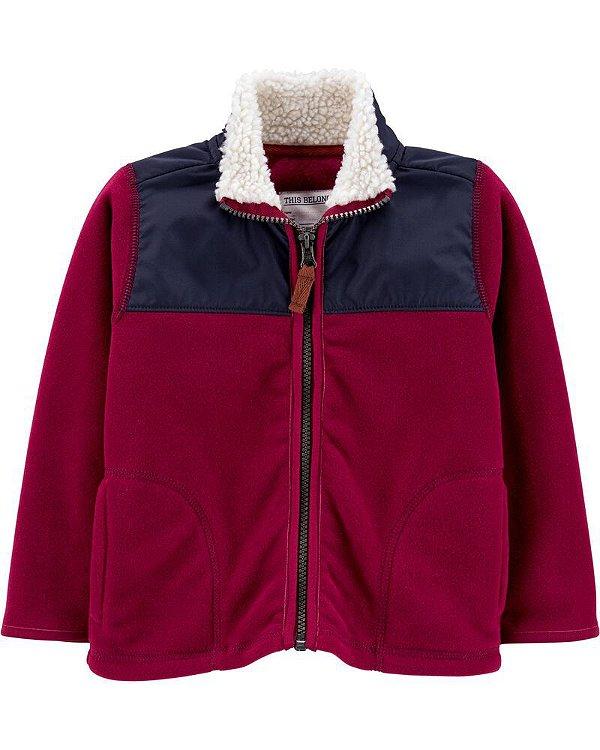 Jaqueta em fleece com ziper - Carter's