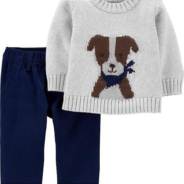 Conjunto cachorrinho 2 peças calça em sarja - Carter's