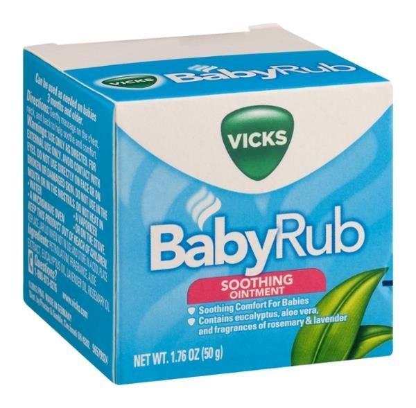 Pomada Baby Rub para alívio dos sintomas da gripe 50g - Vick Baby Rub