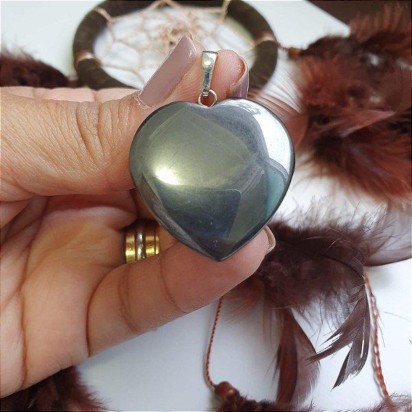 Pingente Hematita Coração