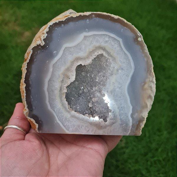 Geodo Ágata Natural Cinza 1.092gr