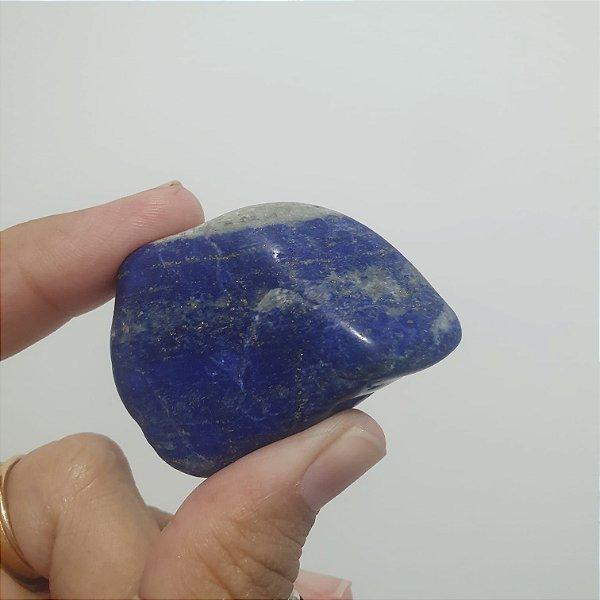 Lápis Lazuli pedra rolada 5cm a 6cm | SABEDORIA