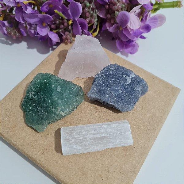 Kit Primeiros Cristais pedras brutas | EQUILÍBRIO DAS ENERGIAS