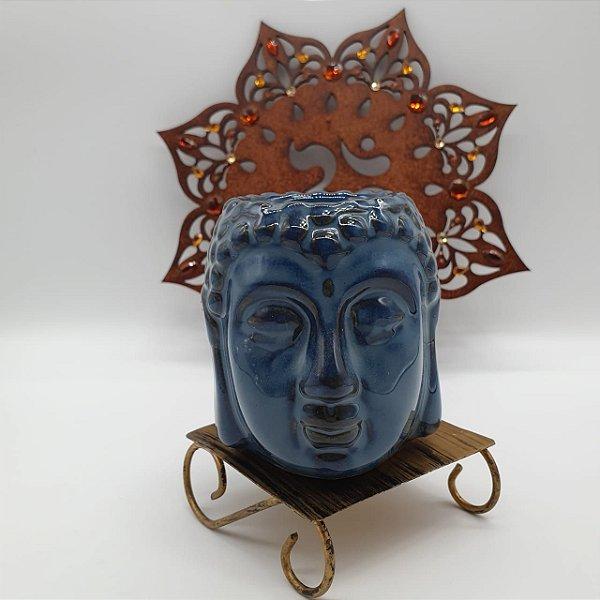 Aromatizante Porcelana Cabeça de Buda - Azul