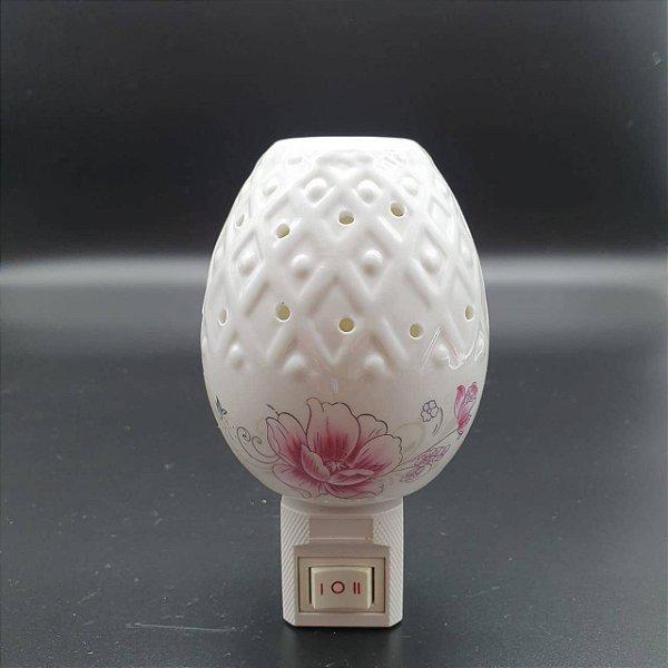 Luminária Aromatizante Porcelana Floral