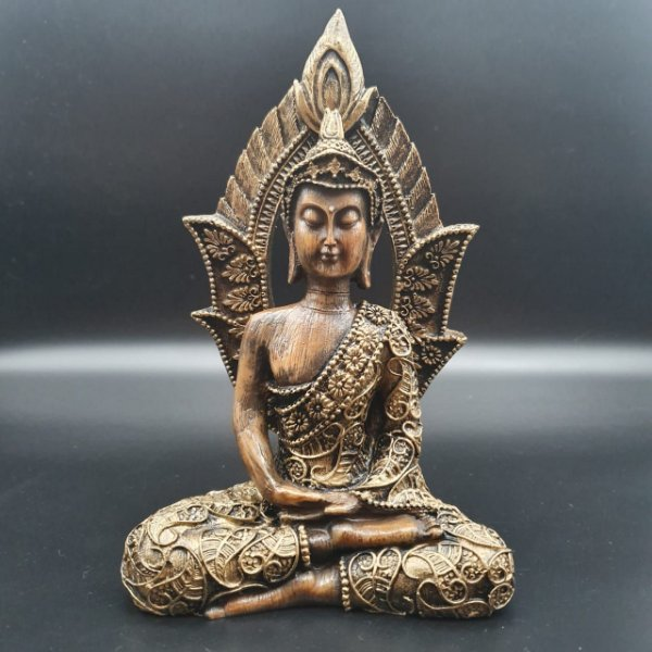 Buda Portal Dourado 19cm