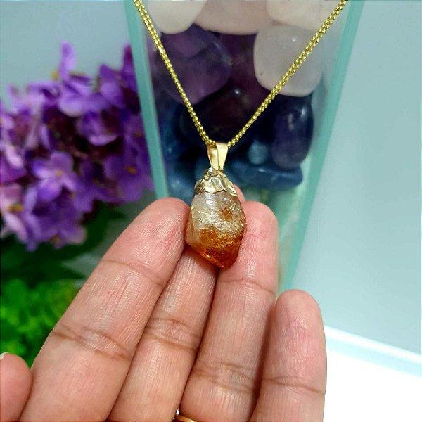 Pingente Citrino Pedra Natural - 6 Gramas 2cm x 1.5cm