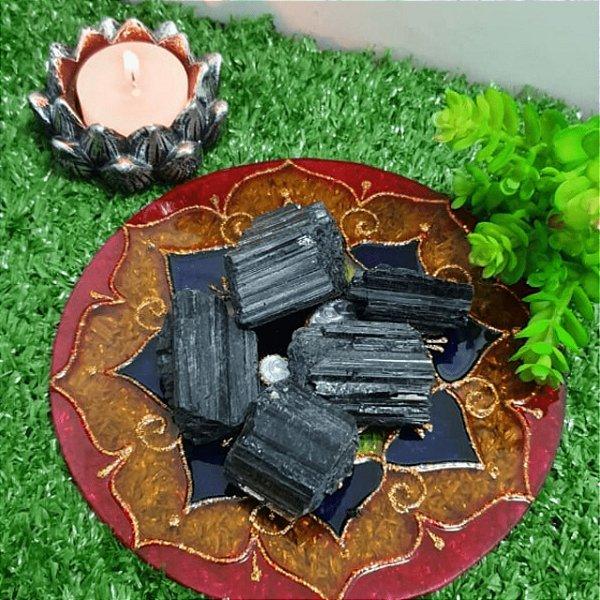 Turmalina Negra Bruta (unidade) | 3cm x 1cm
