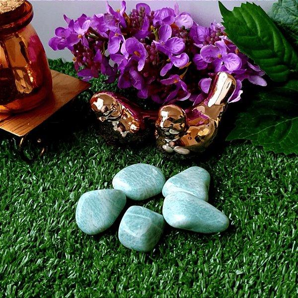Pedra Amazonita Rolada (unidade) | 3cm x 1cm