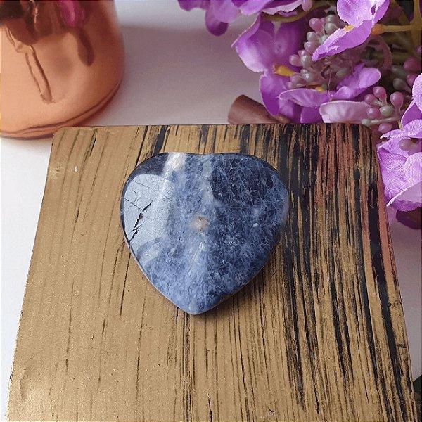 Coração de Sodalita Azul - 17 gramas 3.5cm x 3.5