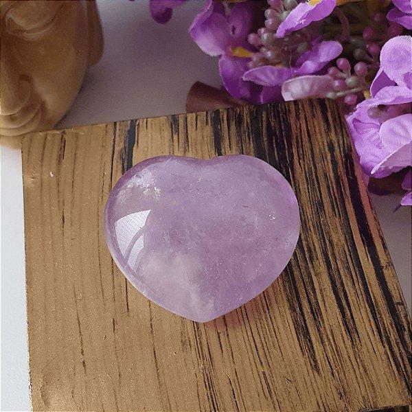 Coração de Ametista Rosa - 35 gramas 3.5cm x 4cm