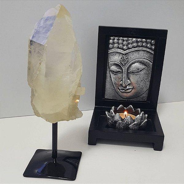 Ponta Cristal com Enxofre na base de ferro - 647 Gramas 6cm x 12cm
