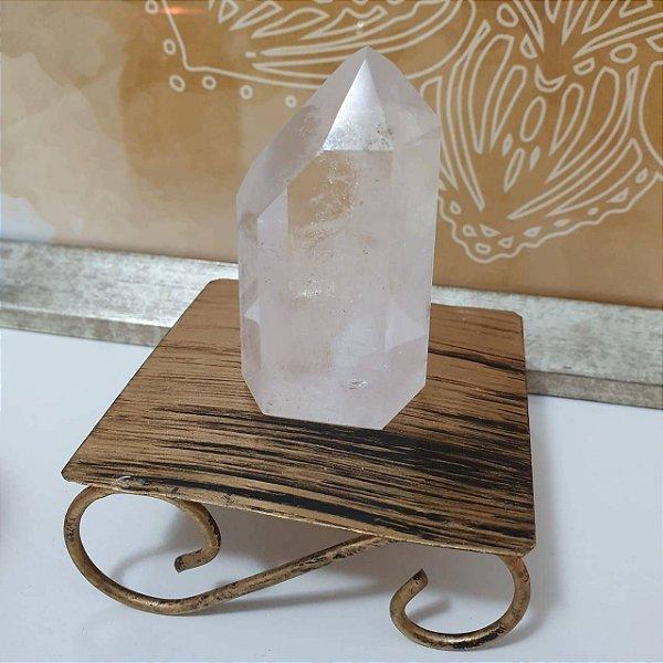 Ponta Cristal Fantasma Lapidado - 471 Gramas 5.5cm x 11cm