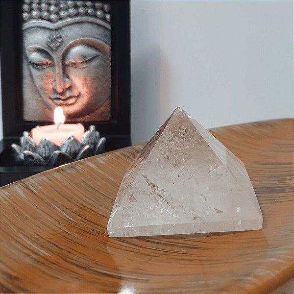 Pirâmide de Cristal Fantasma - 186 Gramas 6cm x 5.5