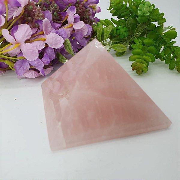 Pirâmide de Quartzo Rosa - 283 Gramas 7cm x 7cm (Qualidade Extra Especial)