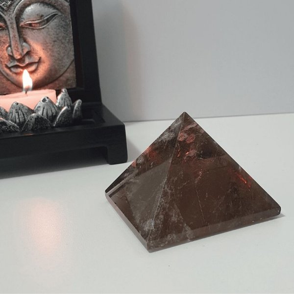 Pirâmide de Quartzo Fumê - 165g 5.5cm x 5cm