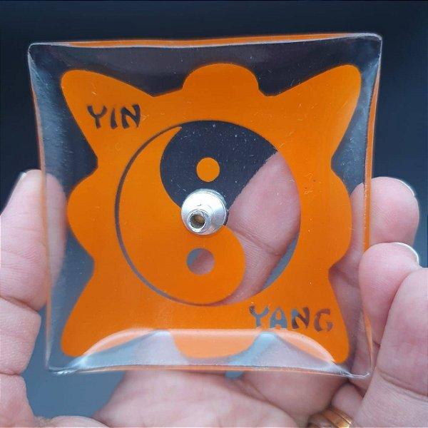 Incensário de Vidro YIN-YANG Laranja