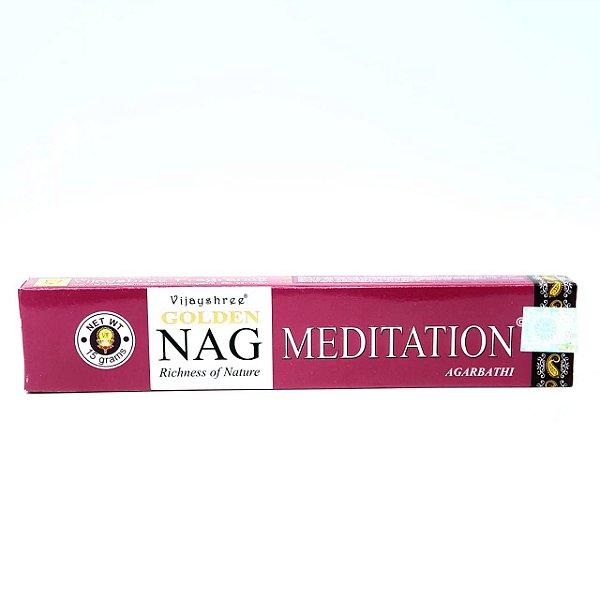 Incenso Golden Nag Massala Agarbathi - Nag Golden Meditation