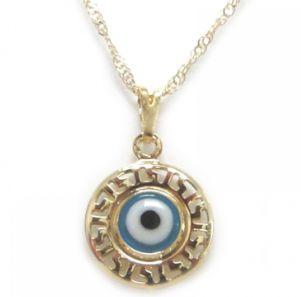 Gargantilha Mandala com Olho Grego 1,5cm - Banho Ouro