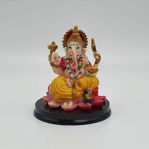 Ganesha Lotus Rosa 11 cm