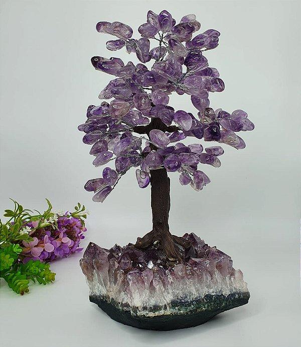 Árvore de Ametista com Base em Drusa de Ametista - 30cm | 3kg (Espetacular)
