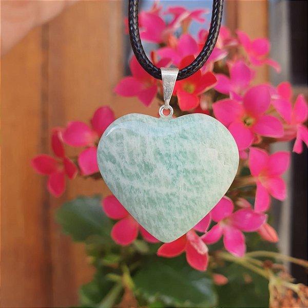 Pingente Amazonita coração