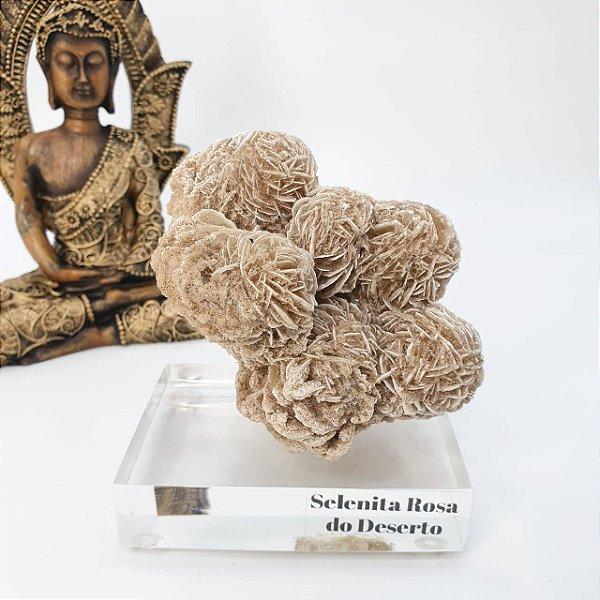 Selenita Rosa do Deserto - 451g | 10cm x 9cm