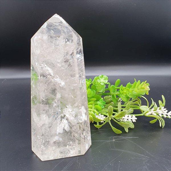 Ponta de Cristal Facetado | A14cm x L6cm x P14cm | P 494g