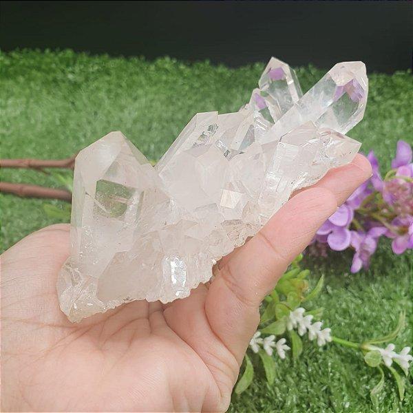 Drusa de Cristal - Qualidade Extra Especial | A5cm x L7cm x P11cm | P 250g