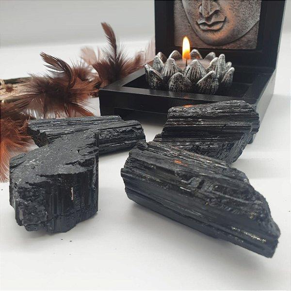 Drusa de Turmalina Negra (unidade) 6cm aprox.