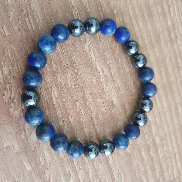 Pulseira Lápis Lazuli e Hematita