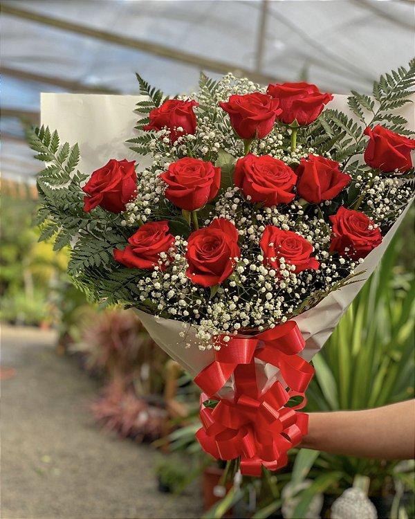Arranjo Luxo 12 Rosas Importadas