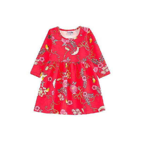 Vestido Infantil Candy Kids Molicotton Vermelho