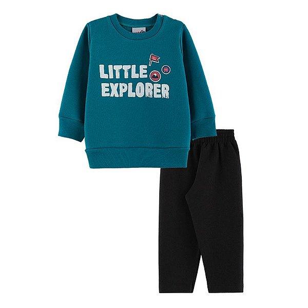 Conjunto Little Explorer Casaco + Calça Bebê Menino Candy Kids Atlantis