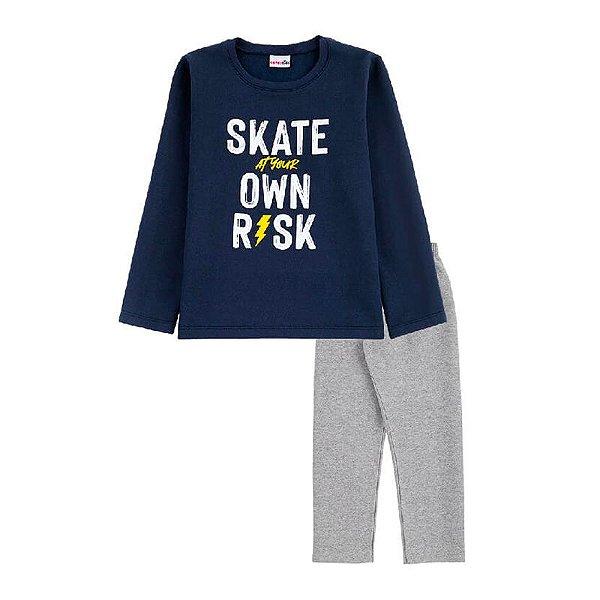 Conjunto Skate Casaco + Calça Infantil Menino Candy Kids Marinho