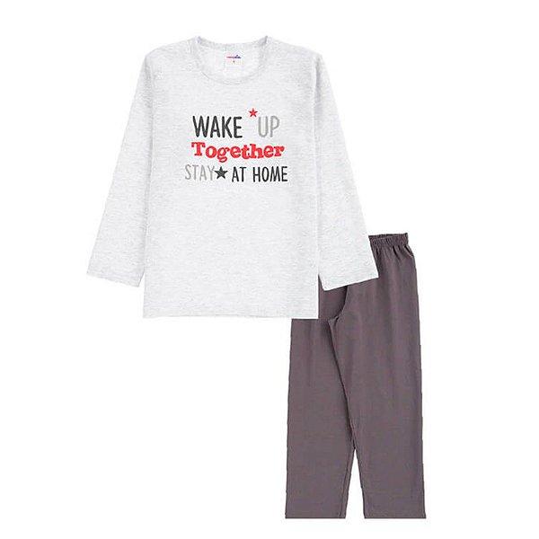 Pijama Wake Up Infantil Menino Candy Kids Mescla