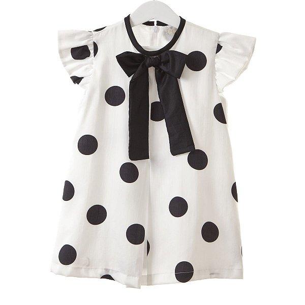 Vestido Infantil Poá bolas
