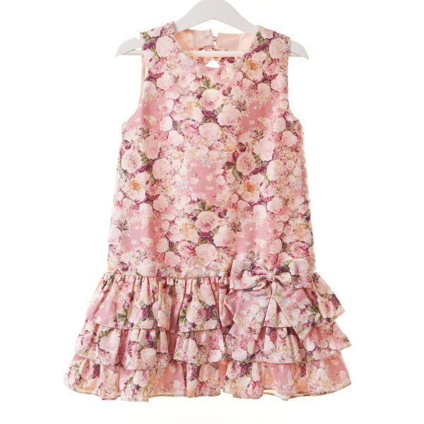 Vestido Trapezio floral rosa
