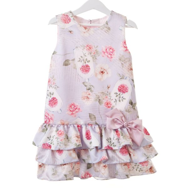 Vestido Trapezio lilás