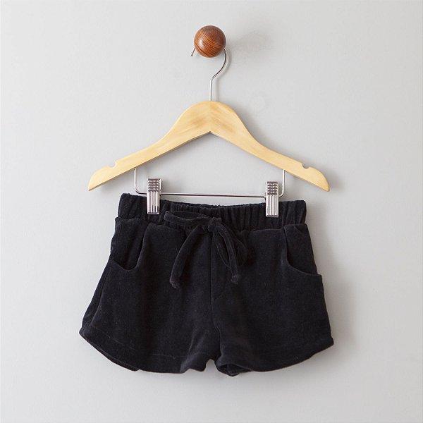 Shorts de Plush preto