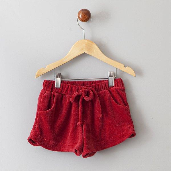 Shorts de Plush cereja