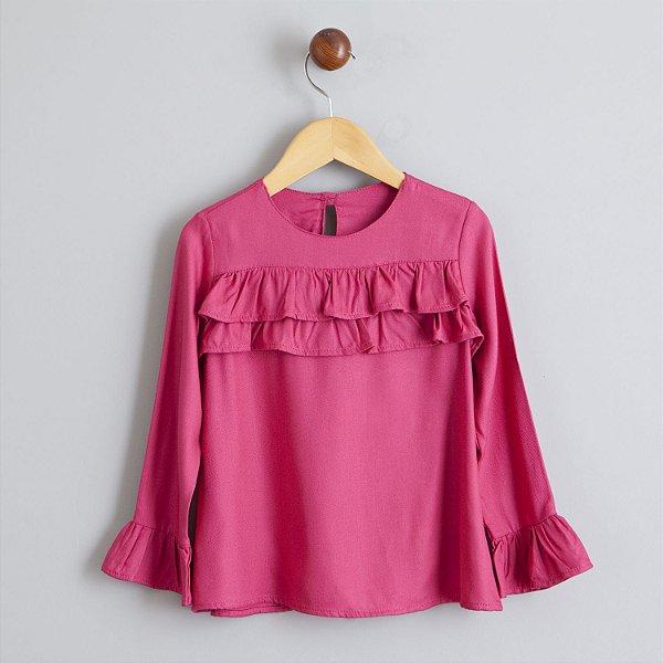 Blusa Pink babado
