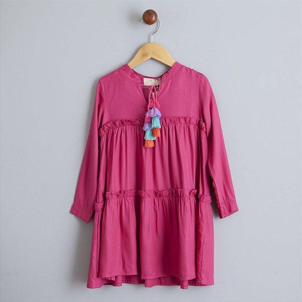 Vestido Pink babado