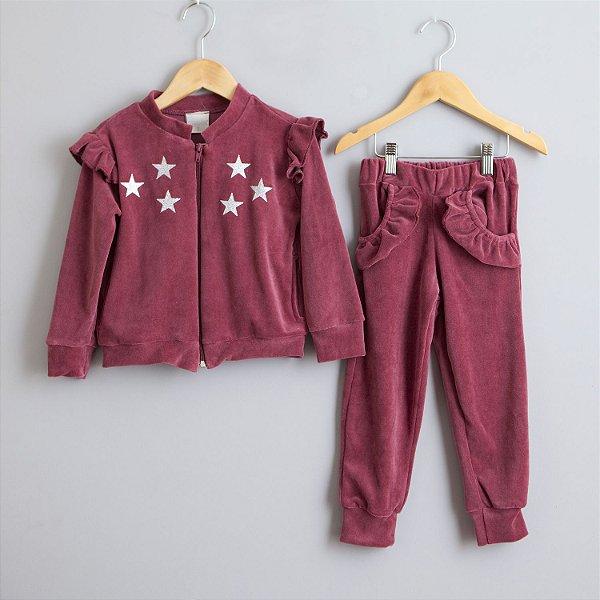 Conjunto de Plush Estrelas marsala