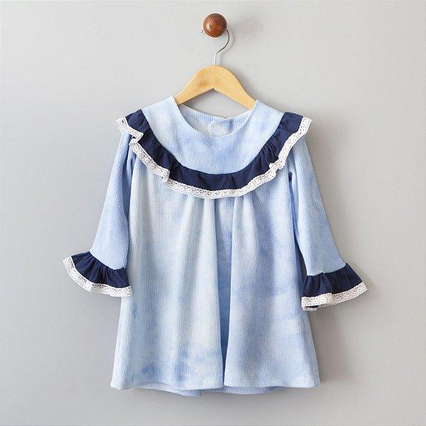 Vestido Favo Azul