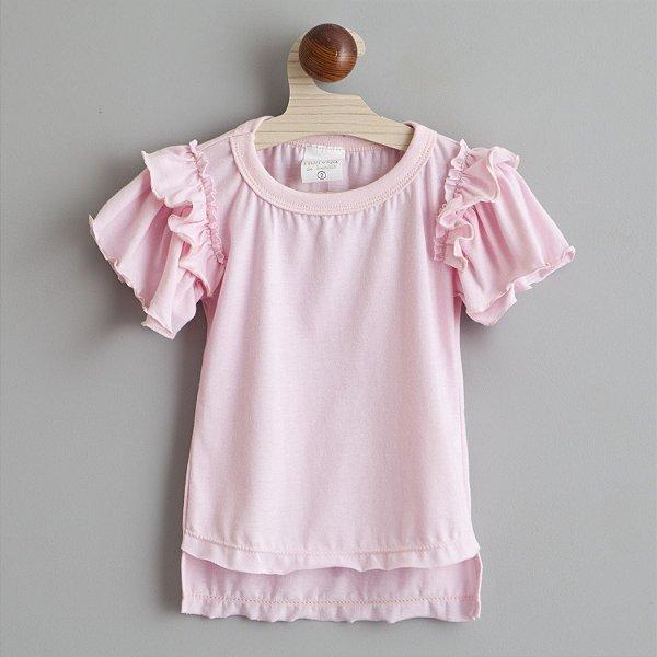 Top Beija Flor rosa bebe