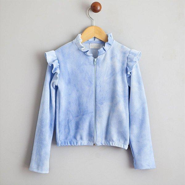 Jaqueta Favo tiedye azul