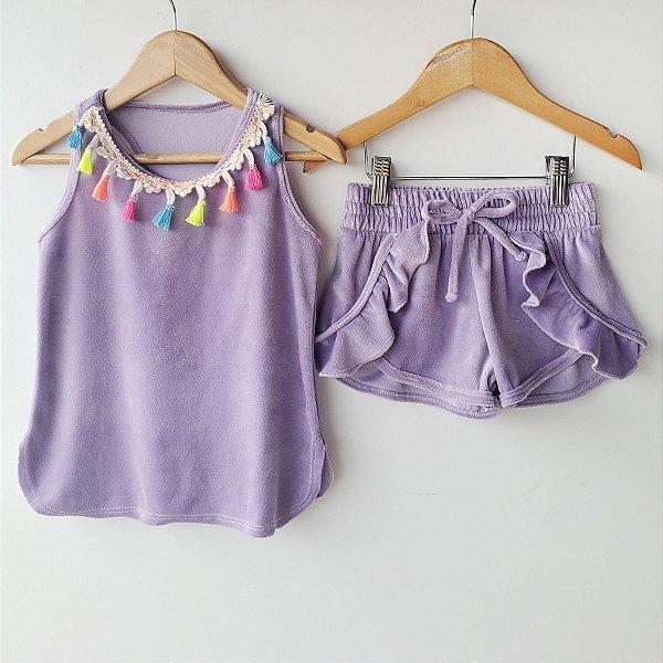 Conjunto de plush Vicky lilás