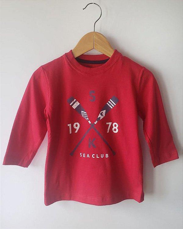Camiseta menino manga longa